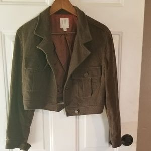 Clifford Wills wool army green cropped jacket